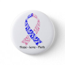 Hope Pink and Blue Awareness Ribbon Pinback Button