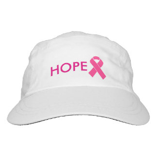 hope pink ribbon cancer awareness hat