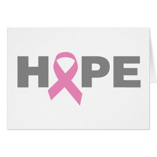 Hope Pink Ribbon card