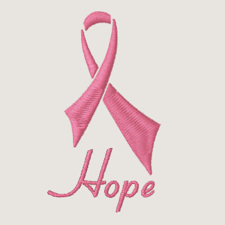 Hope Pink Ribbon Fleece Track Jacket