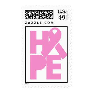 Hope Pink Ribbon Stamp