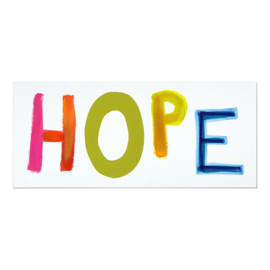 Hope powerful word art colorful fun hopeful unique card