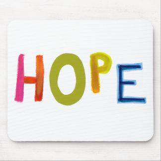Hope powerful word art colorful fun hopeful unique mousepad