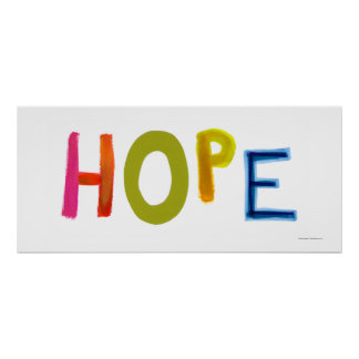 Hope powerful word art colorful fun hopeful unique poster