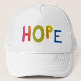 Hope powerful word art colorful fun hopeful unique trucker hat