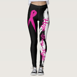 Hope Pray Fight (Breast Cancer Awareness) leggings
