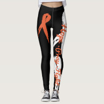 Hope Pray Fight (Leukemia Awareness) leggings