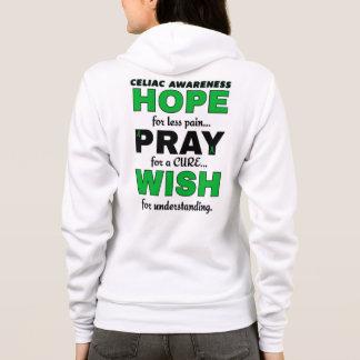 Hope Pray Wish...Celiac Hoodie