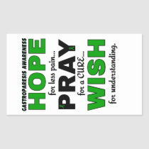 Hope Pray Wish...Gastroparesis Rectangular Sticker