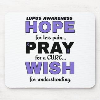 Hope Pray Wish...Lupus Mouse Pad