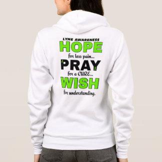 Hope Pray Wish...Lyme Hoodie