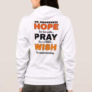 Hope Pray Wish...MS Hoodie