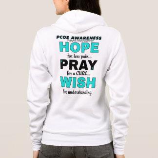 Hope Pray Wish...PCOS Hoodie