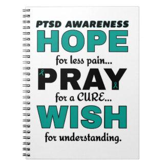 Hope Pray Wish...PTSD Notebook