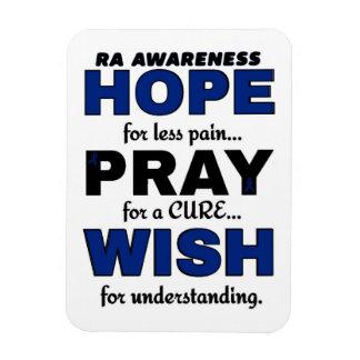 Hope Pray Wish...RA Rectangular Photo Magnet