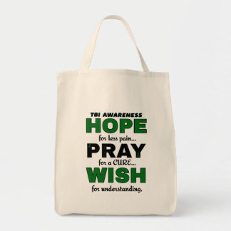 Hope Pray Wish...TBI Tote Bag