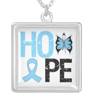 Hope Prostate Cancer Square Pendant Necklace