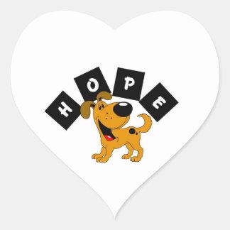 Hope (Pumpkin) Heart Sticker