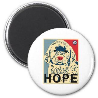 Hope puppy 2 inch round magnet
