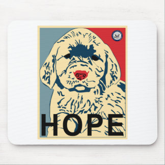 Hope puppy mouse pad