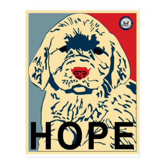 Hope puppy postcard