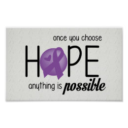 Hope (Purple) Poster