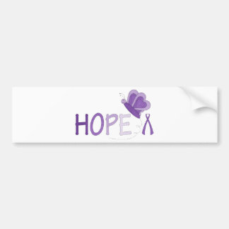 Hope Purple Ribbon Awareness Bumper Sticker