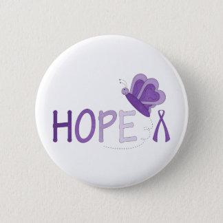 Hope Purple Ribbon Awareness Button