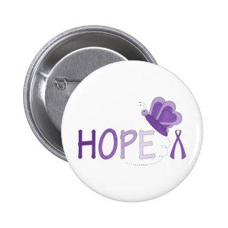 Hope Purple Ribbon Awareness Pins