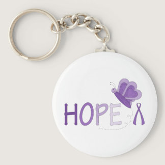 Hope Purple Ribbon Awareness Keychain