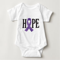 Hope Purple Ribbon Baby Bodysuit