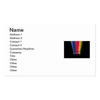Hope Rainbow Business Card Templates