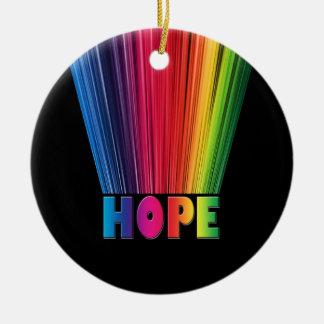 Hope Rainbow Ceramic Ornament