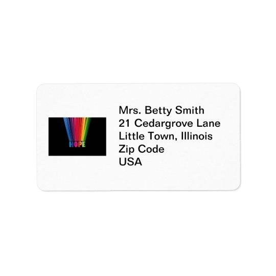 Hope Rainbow Label