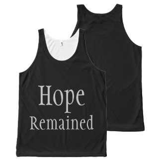 Hope Remained - after everything else was gone All-Over-Print Tank Top