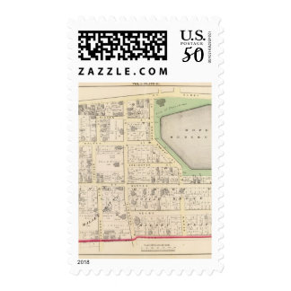 Hope Reservoir and St Johns Episcopal Church Map Postage