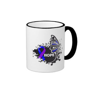 Hope Rheumatoid Arthritis Butterfly Ringer Coffee Mug