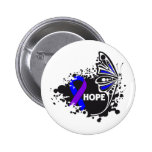 Hope Rheumatoid Arthritis Butterfly Pinback Button