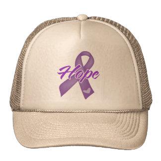 Hope Ribbon - Alzheimers Disease Trucker Hat