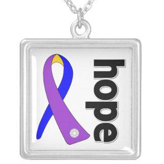 Hope Ribbon - Bladder Cancer Awareness Custom Necklace