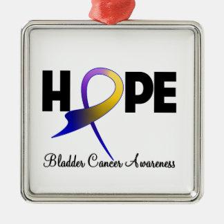 Hope Ribbon Bladder Cancer Awareness Christmas Tree Ornament