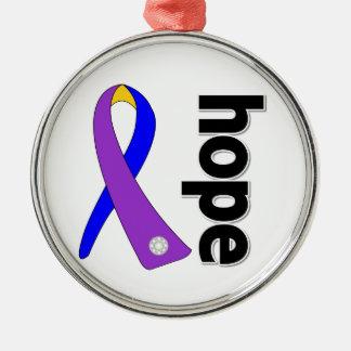 Hope Ribbon - Bladder Cancer Awareness Christmas Tree Ornament
