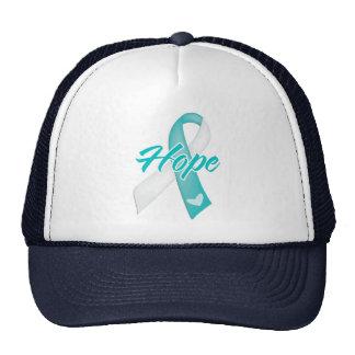 Hope Ribbon - Cervical Cancer Trucker Hat