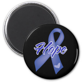 Hope Ribbon - Colon Cancer 2 Inch Round Magnet