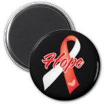 Hope Ribbon - Oral Cancer Refrigerator Magnet