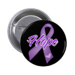 Hope Ribbon - Purple Ribbon Causes 2 Inch Round Button