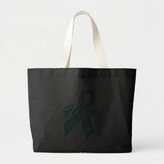 Hope Ribbon - Teal Ribbon Canvas Bags