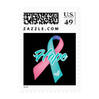 Hope Ribbon - Thyroid Cancer Stamps