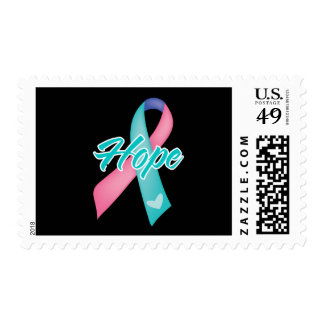 Hope Ribbon - Thyroid Cancer Postage