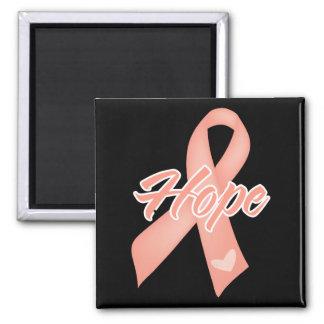 Hope Ribbon - Uterine Cancer 2 Inch Square Magnet